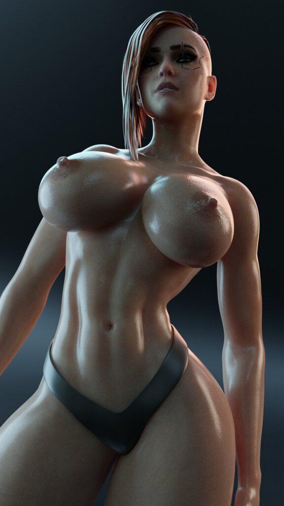 Kisxsfm - Big tits V Cyberpunk 2077 porn hentai