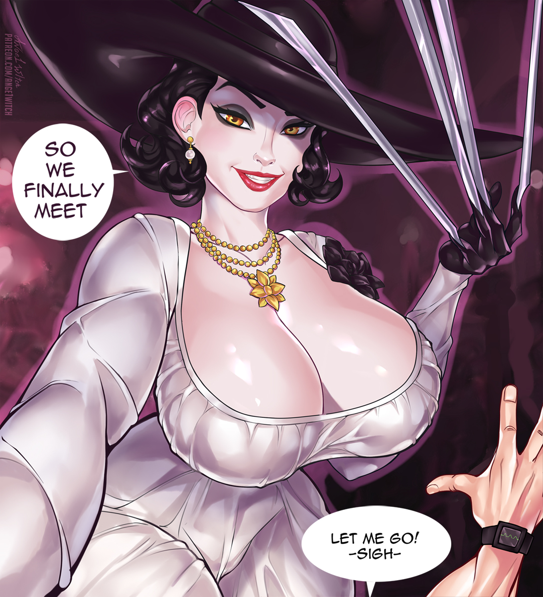 Ange1witch - Ethan Winters Alcina Dimitrescu Resident Evil 8 Village hentai 1