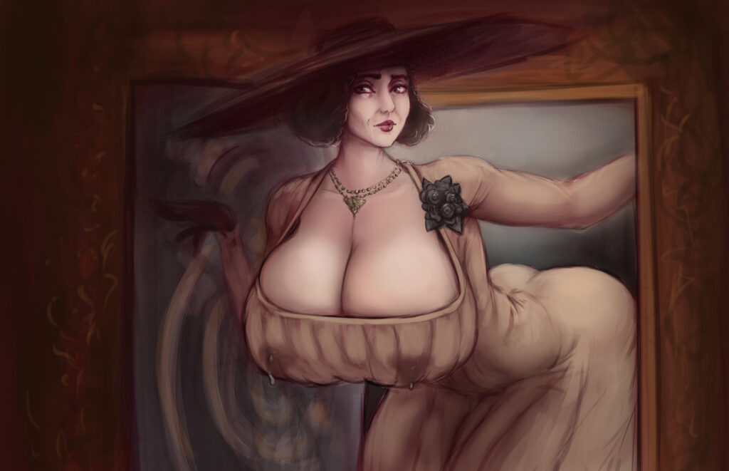Shinyglute - Alcina Dimitrescu Resident Evil 8 Village Porn 0