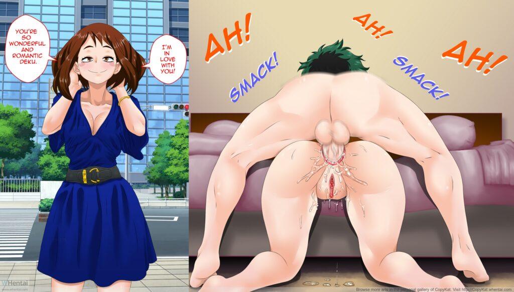 Copykat - Ochako and Midoriya fuck date my hero academia porn