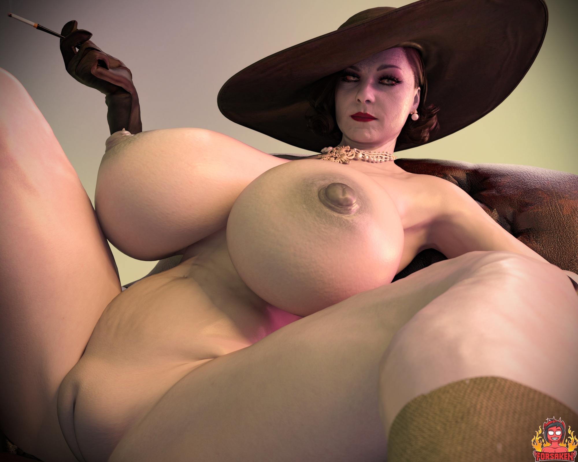 Forsaken - Alcina Dimitrescu Big Vampire Lady hentai porn