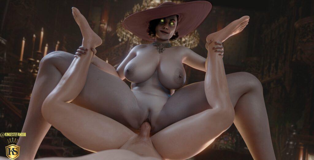 Kingestefano98 - Alcina Dimitrescu Big Vampire Lady hentai porn