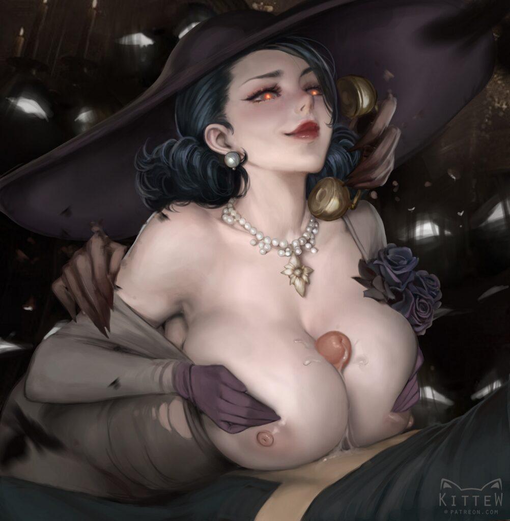 Kittew - Alcina Dimitrescu Big Vampire Lady rule 34 hentai porn
