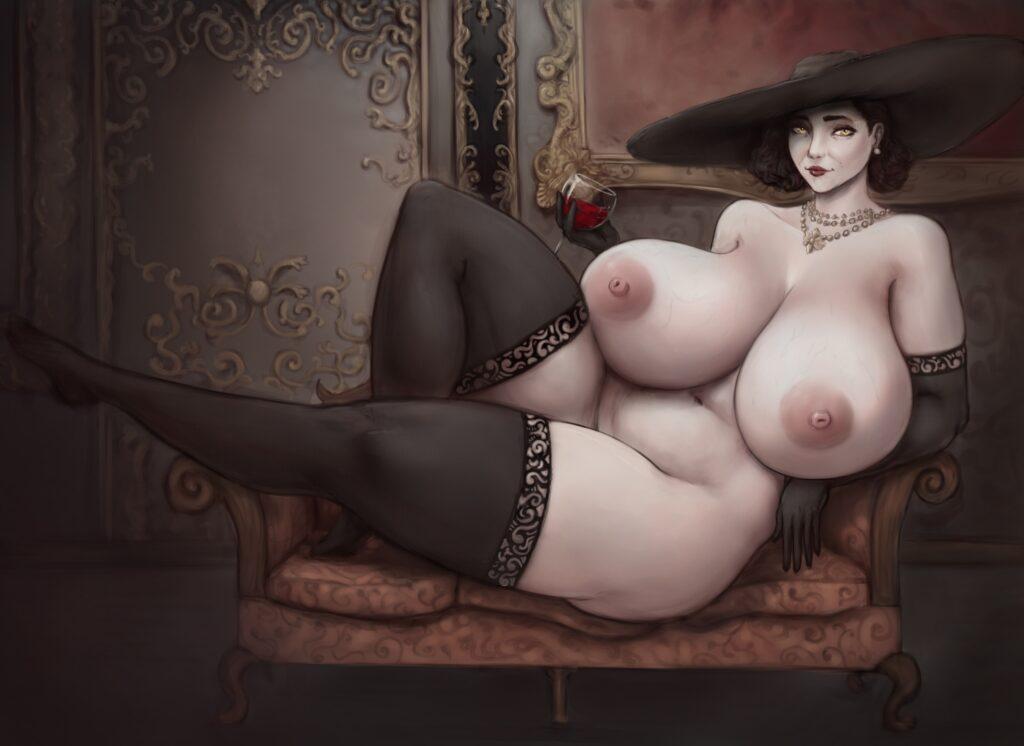 Shinyglute - Alcina Dimitrescu Resident Evil 8 Village Porn 2