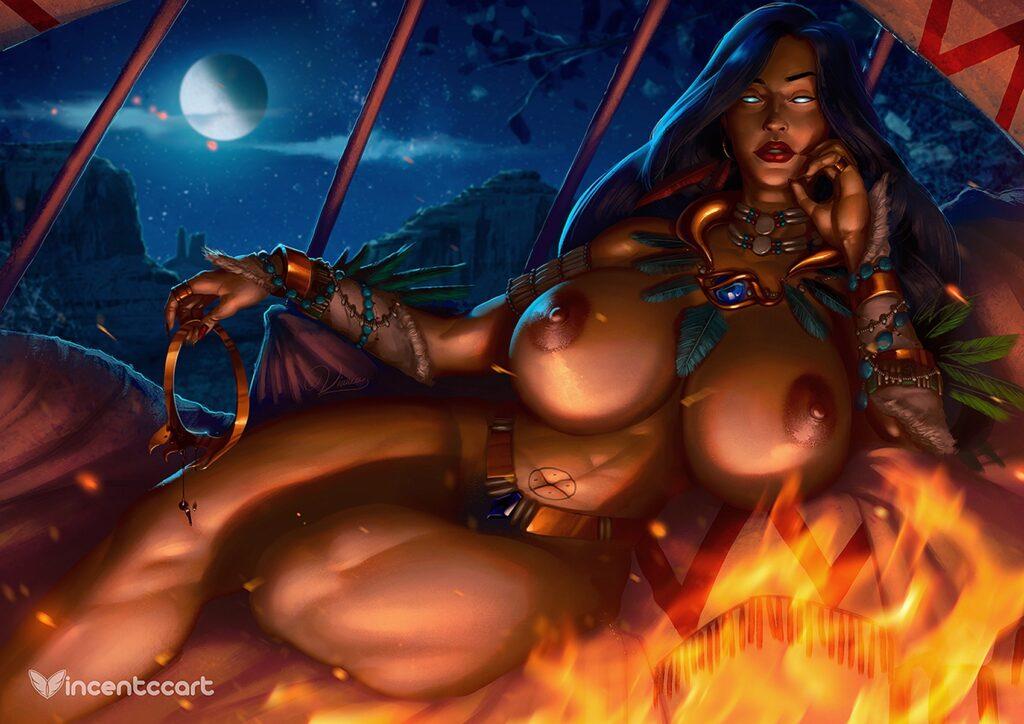 Vincentcc - Thick milf Elsa Maza from gargoyles hentai porn