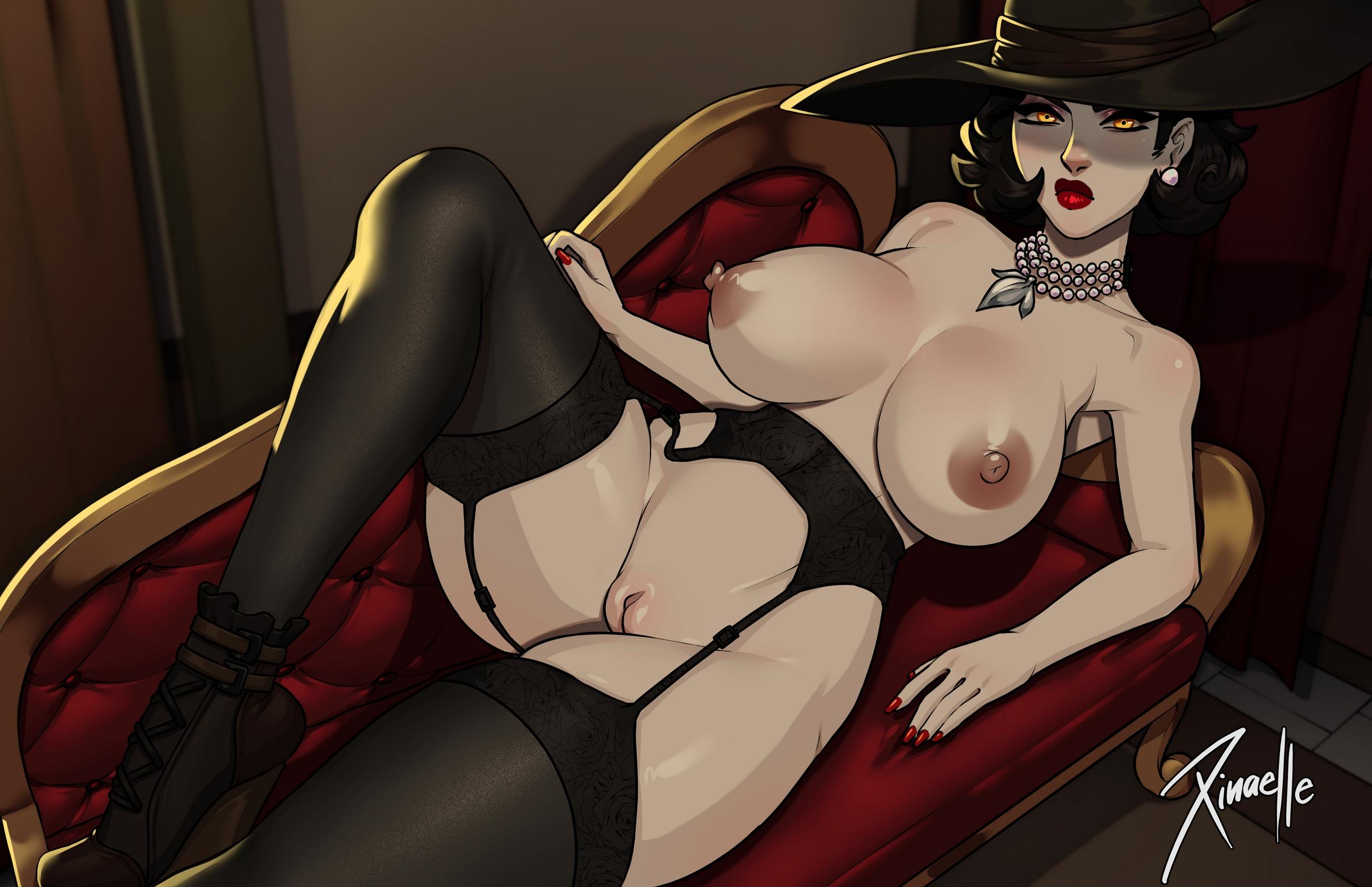 Xinaelle - Alcina Dimitrescu Big Vampire Lady hentai porn 1