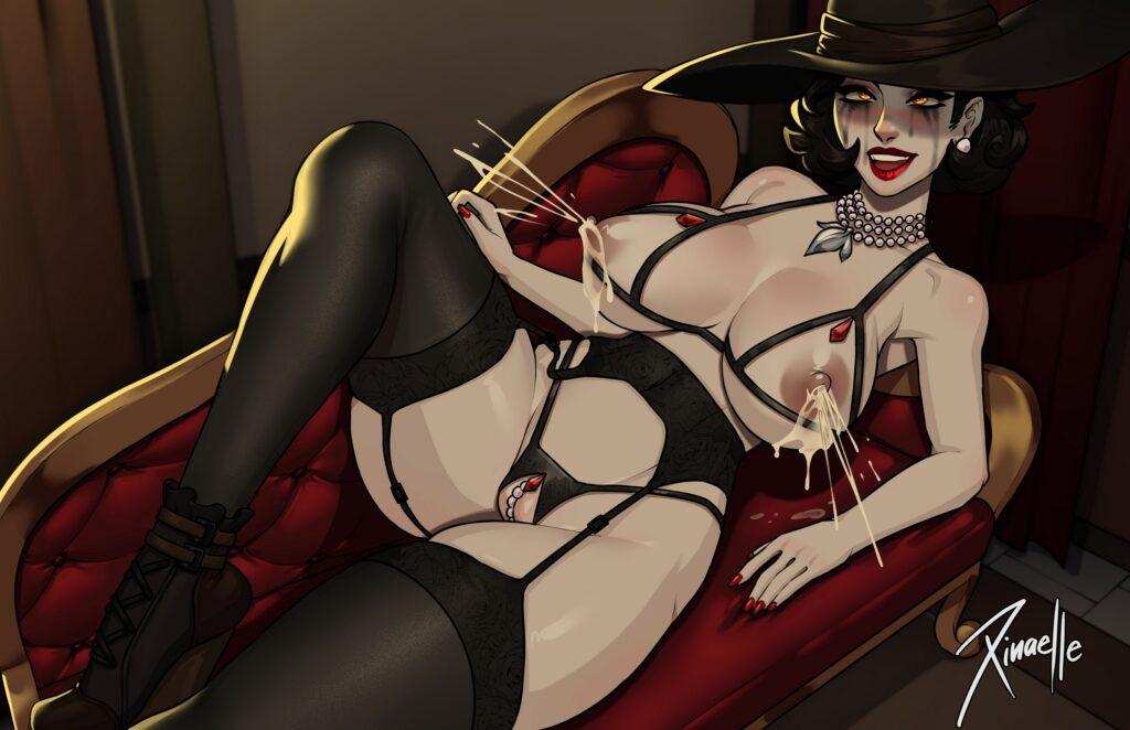 Xinaelle - Alcina Dimitrescu Big Vampire Lady hentai porn 2