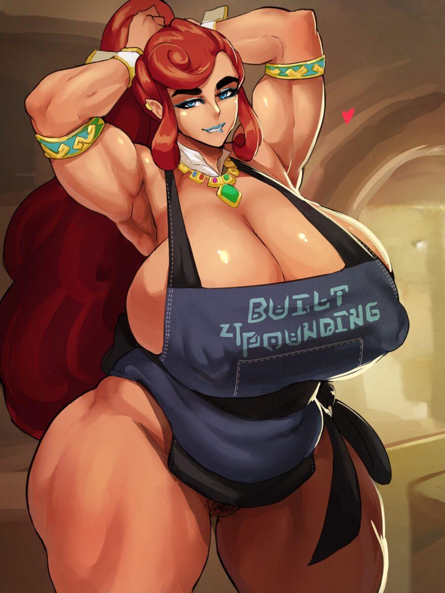 Donaught - Gerudo Urbosa with huge muscles zelda hentai porn