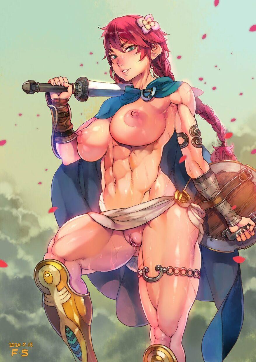 F.S - Muscular redhead warrior porn